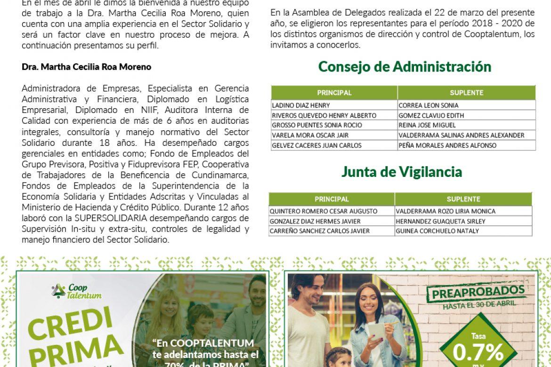 COOPNOTICIAS ED 01 – ABRIL 2018